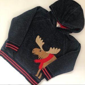 5/$25🎉 Gymboree moose pullover hoodie
